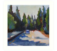 Highway 17 to Santa Cruz Art Print