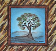 Tree with Faux Frame by Agata Lindquist