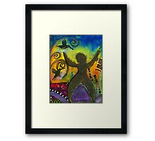 She Rejoices Singing Sweet Songs of Triumph Framed Print