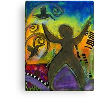 She Rejoices Singing Sweet Songs of Triumph Canvas Print