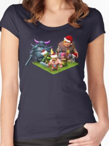 Christmas clash Women's Fitted Scoop T-Shirt