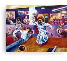 'ELVIS & JESUS BOWLING' Canvas Print