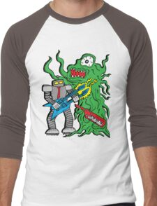 Robot Monster Power Jam Men's Baseball ¾ T-Shirt