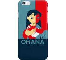 Ohana Poster Case iPhone Case/Skin