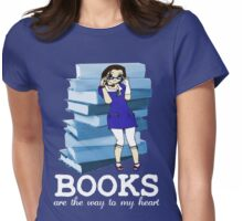 Books Are Love Womens Fitted T-Shirt