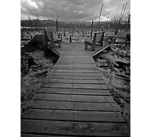 Old Beaver Pond Dock Photographic Print