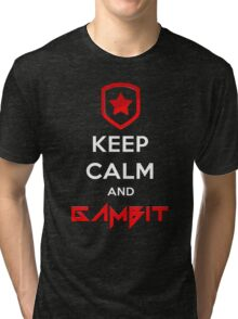 Keep Calm and Gambit (T-SHIRTS AND HOODIES) Tri-blend T-Shirt