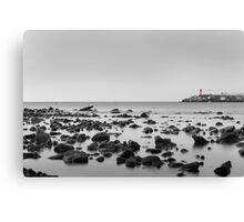 Seascape Black and white Canvas Print