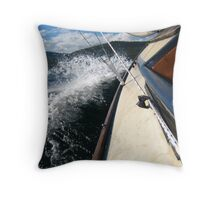 Carving out Lake George Throw Pillow