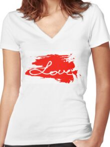 Love. Conceptual handwritten phrase Women's Fitted V-Neck T-Shirt