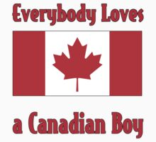 Everybody Loves a Canadian Boy One Piece - Short Sleeve