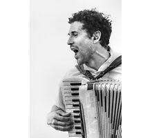 The Accordion Player Photographic Print