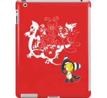 Music Demon Red iPad Case (White Outline) iPad Case/Skin