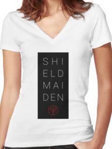 SHIELDMAIDEN Women's Fitted V-Neck T-Shirt