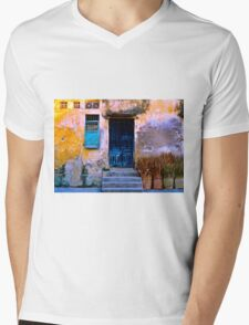 Chinese Facade of Hoi An in Vietnam Mens V-Neck T-Shirt