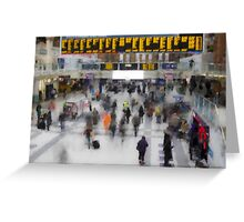Liverpool Street Station London art Greeting Card