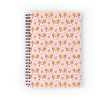 Pokemon Fennekin Pattern Spiral Notebook