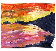 Seaton sunset Poster