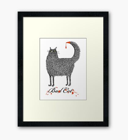 Bad Cat Framed Print