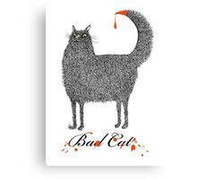Bad Cat Canvas Print