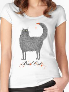 Bad Cat Women's Fitted Scoop T-Shirt
