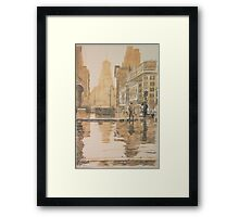 Times Square in the rain, 1943 Framed Print