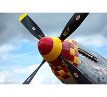P51 propeller Photographic Print