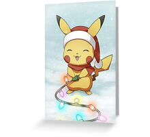 Pikachu Christmas Card Greeting Card