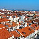 Baixa City Center of Lisbon Panoramic View by kirilart