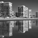 Reflections of Life on the Beach in Black & White by Heather Friedman