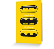 My SUPERHERO PILLS - Batman Greeting Card