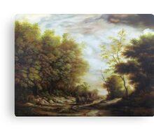 Dan Scurtu - Forest Road Canvas Print