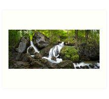 The Waterfalls at Myrafalle in Austria  Art Print