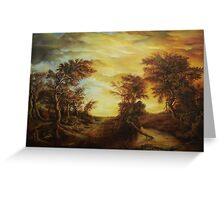 Dan Scurtu - Forest at Sunset Greeting Card