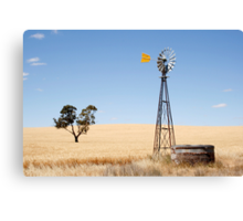 Wind driven water pump South Australia Canvas Print