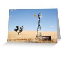 Wind driven water pump South Australia Greeting Card