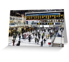 London Train Station Art Greeting Card