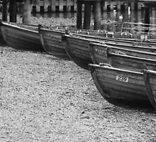 Row of Boats - Ambleside Lake District by liberthine01