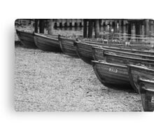 Row of Boats - Ambleside Lake District Canvas Print