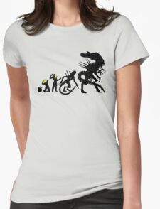 Alien Evolution Womens Fitted T-Shirt