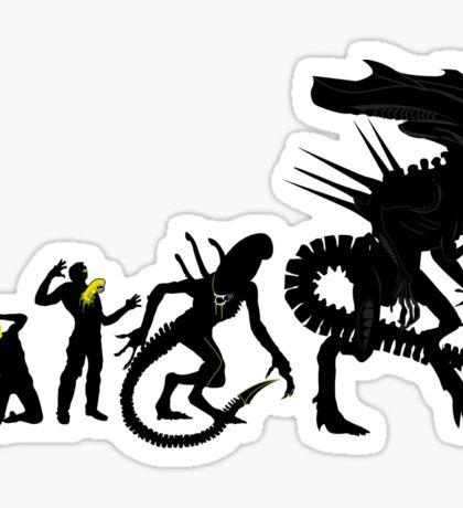 Alien Evolution Sticker