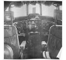 Vintage Plane Cockpit Poster