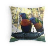 Fly In Diner 2 Throw Pillow