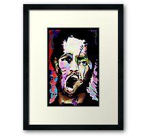 Kick The Man, Break The Boy. Framed Print