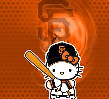 San Francisco Giants Hello kitty iphone Case by daleos