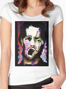 Kick The Man, Break The Boy. Women's Fitted Scoop T-Shirt