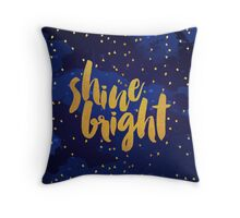 Shine Bright Watercolor Texture Throw Pillow