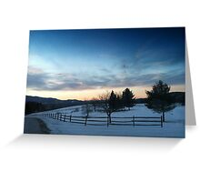 Sunrise in Stowe, Vermont Greeting Card