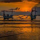 Lovina Beach Sunset by DavoSp8