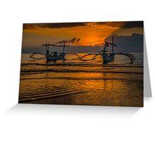 Lovina Beach Sunset Greeting Card